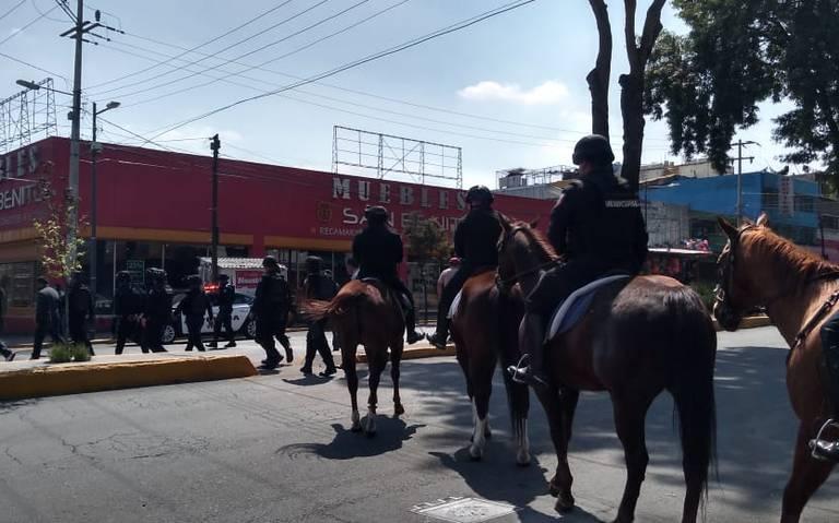 Caballos de la policía montada de Toluca son fundamentales para patrullajes y operativos