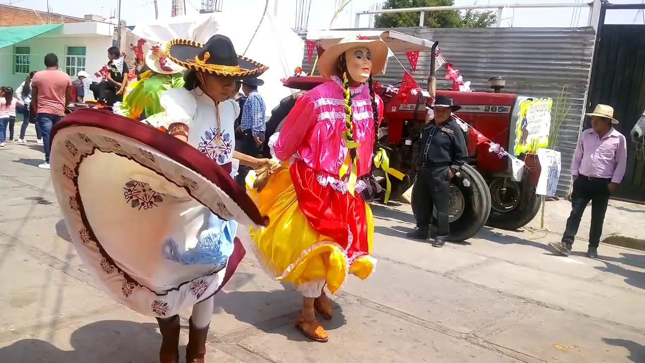 Paseo de la delegación de Santa Ana Tlapaltitlán recorrió más de 6 km en Toluca