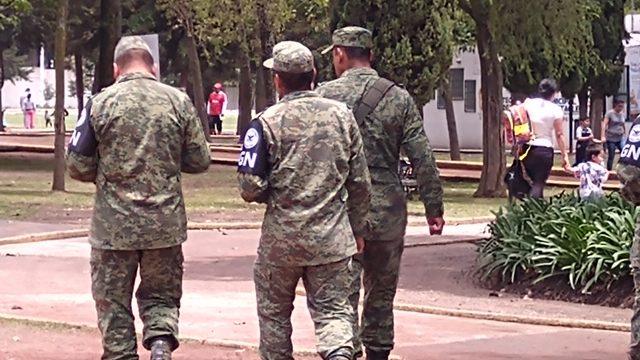 Cuartel de la Guardia Nacional llega a la colonia el Seminario de Toluca
