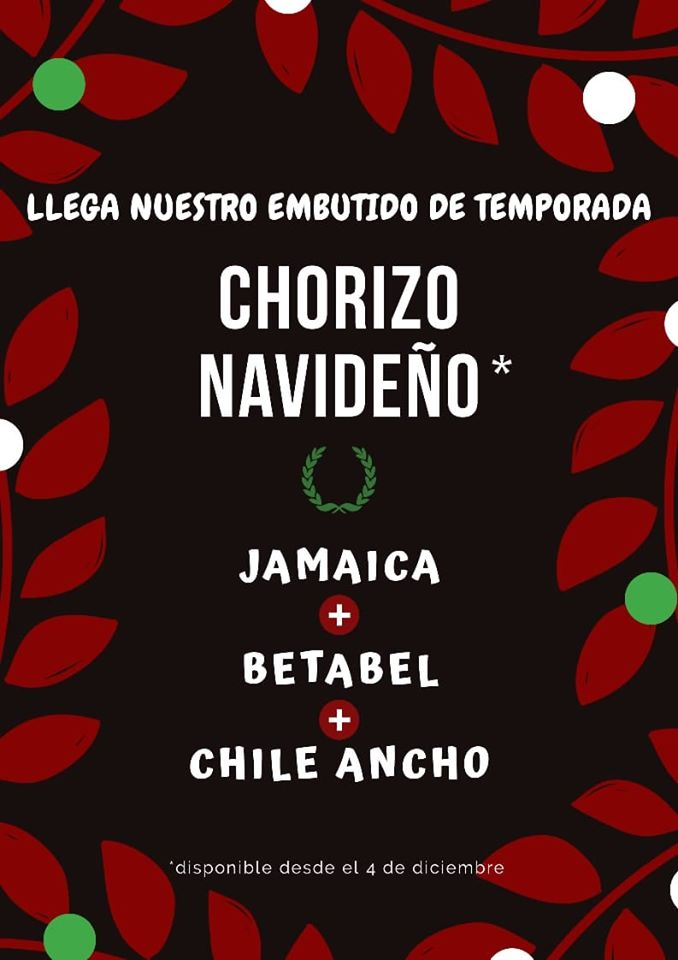 Chorizo navideño en Toluca
