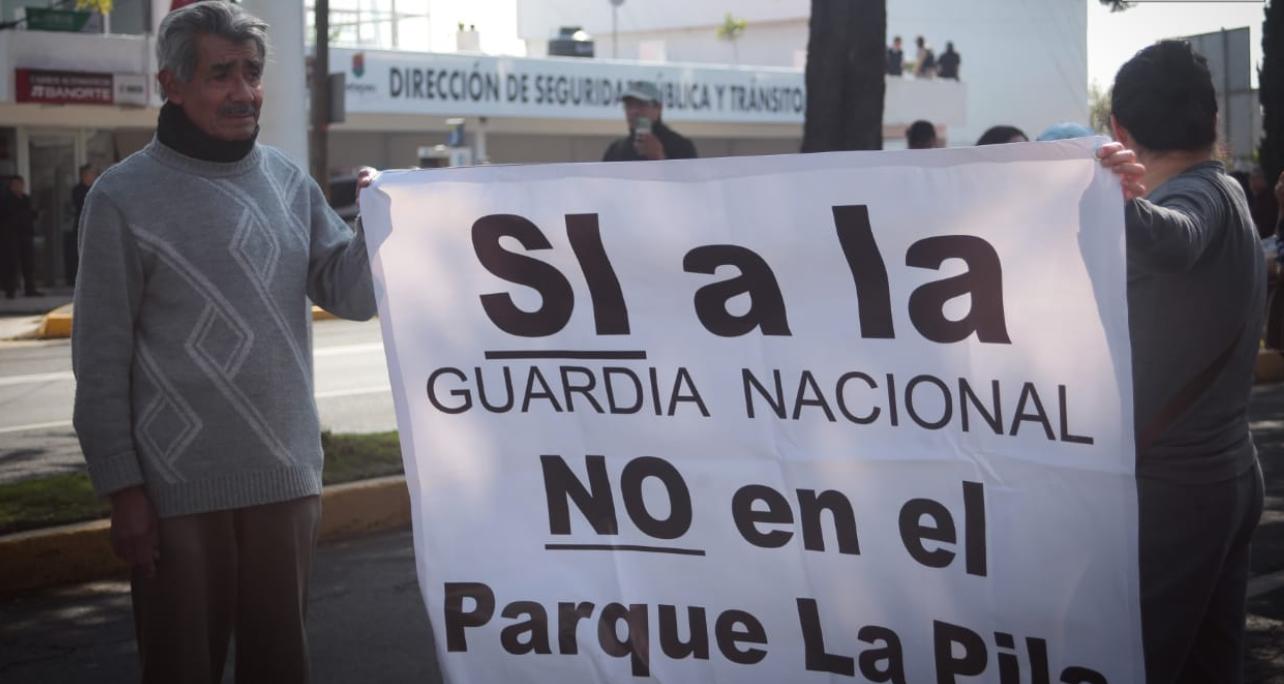 Metepec: Sin alternativas para base de la GN y dos detenidos