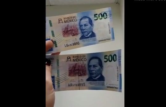 Alertan por billetes falsos de 500 pesos, ¿cómo diferenciarlos?