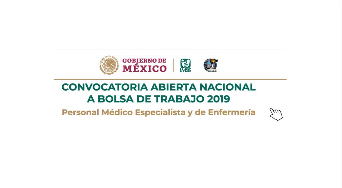 Convocatoria IMSS para médicos especialistas y enfermeras