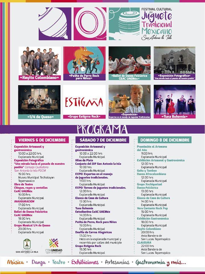 programa festival del juguete tradicional mexicano
