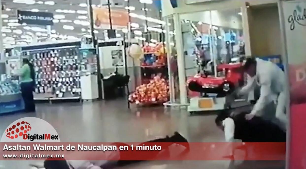 Video: Asaltan Walmart de Naucalpan en un minuto