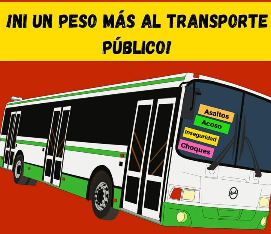 Mexiquenses van contra el aumento en tarifa de transporte público