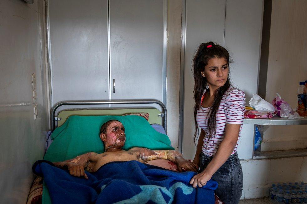 Ahmed Ibrahim de 18 años de las Fuerzas democráticas de Siria
