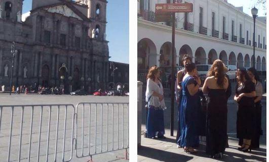 Cierran calles de Toluca por grabaciones de una serie de Netflix