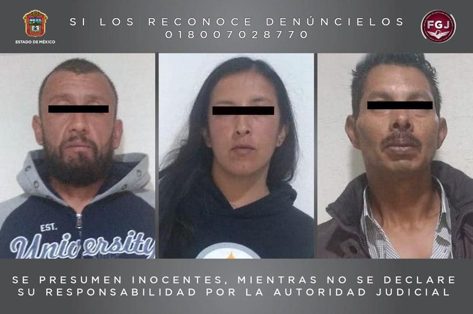 Extorsionadores detenidos en Metepec