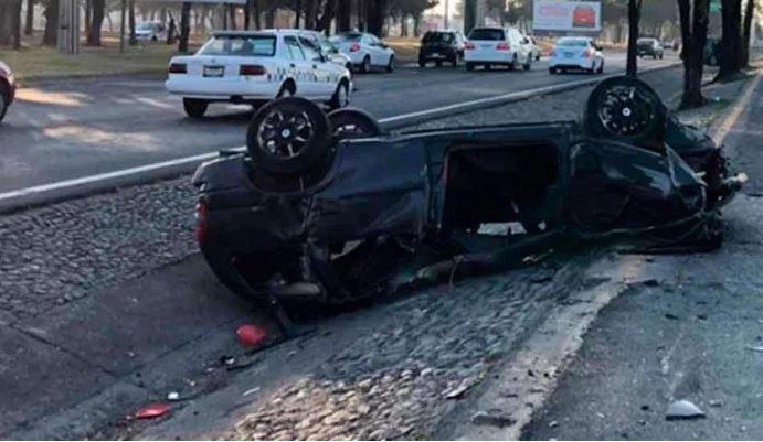 Fallece conductor en accidente en la Toluca-Palmillas