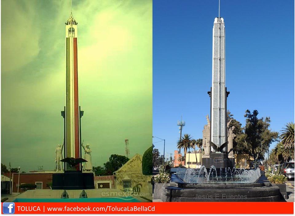 El gemelo del Monumento a la Bandera de Toluca