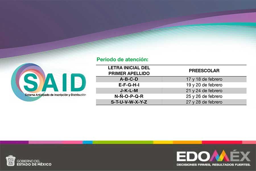 Preinscripciones preescolar convocatoria EdoMex SAID 2020 - 2021