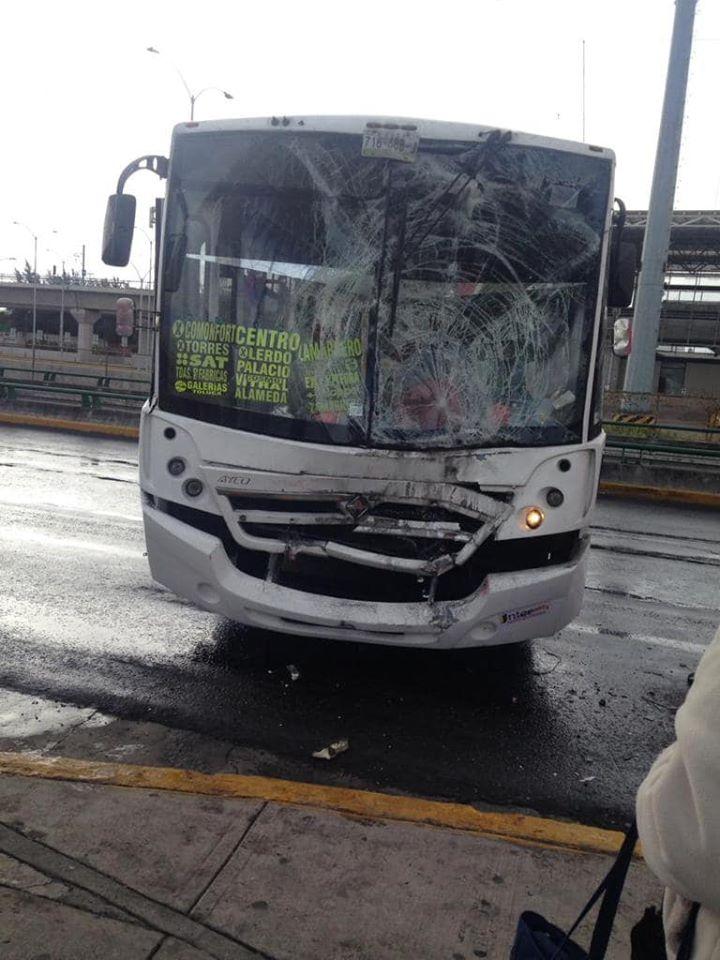 choque de transporte público origina accidente en Toluca