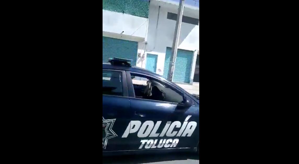 VIDEO || Policía de Toluca pide a habitantes no salir de casa por COVID-19