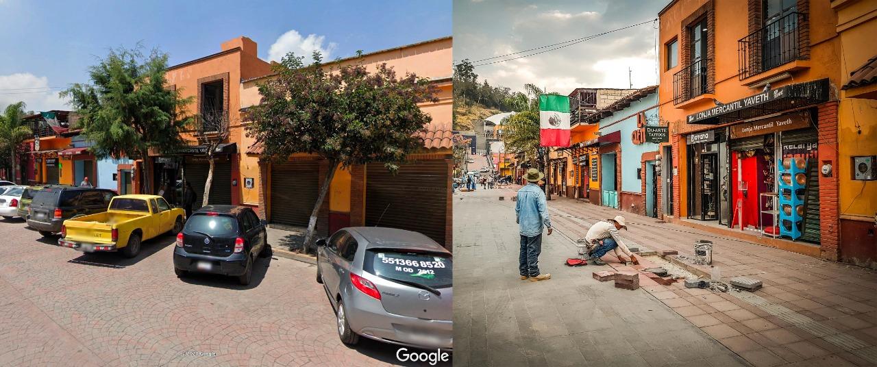 """En Metepec talan árboles por obras del """"Andador turístico"""""""