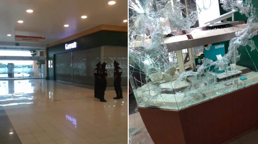 Cliente de Galerías Metepec graba asalto a joyería Guvier