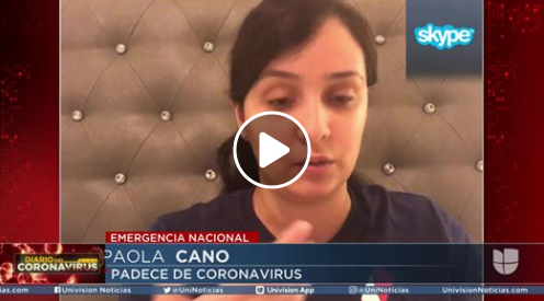 Mujer de 26 años con Covid-19 cuenta su experiencia con los síntomas del virus