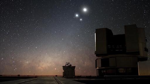 Triple conjunción de la Luna, Marte, Júpiter y Saturno en este mes de marzo