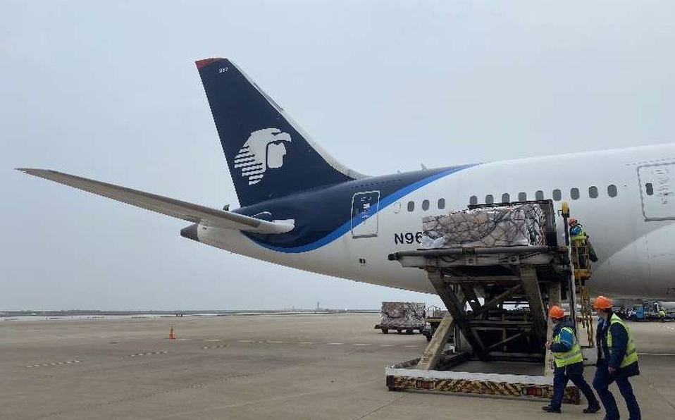 Avión con insumos de salud provenientes de China arribaran a México