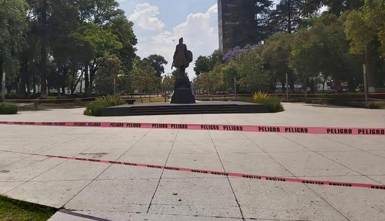 Cierran la Alameda de Toluca por coronavirus