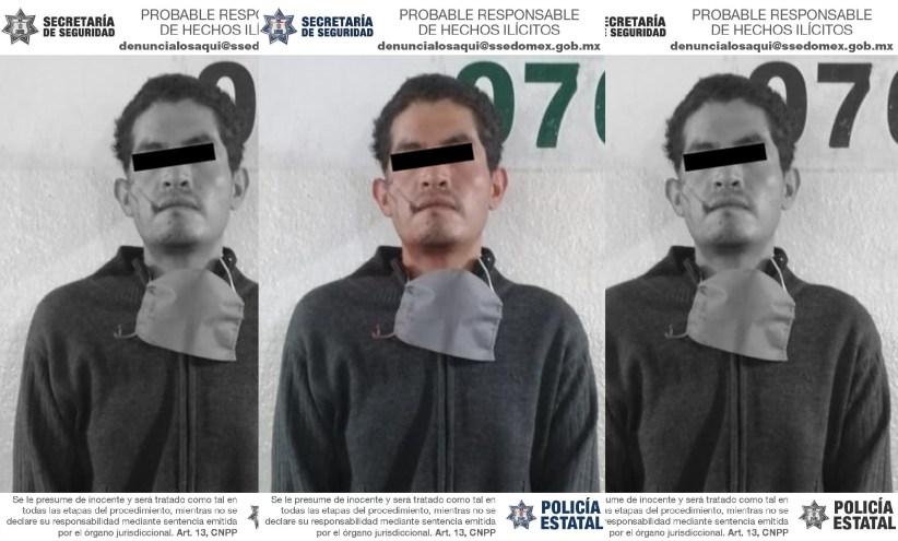 Detienen a hombre por el delito de robo en Toluca