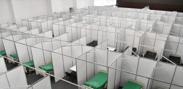 EdoMex adapta auditorios para descongestionar hospitales que atienden a pacientes de coronavirus