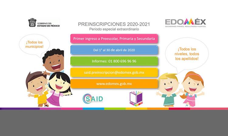 preinscripciones 2020
