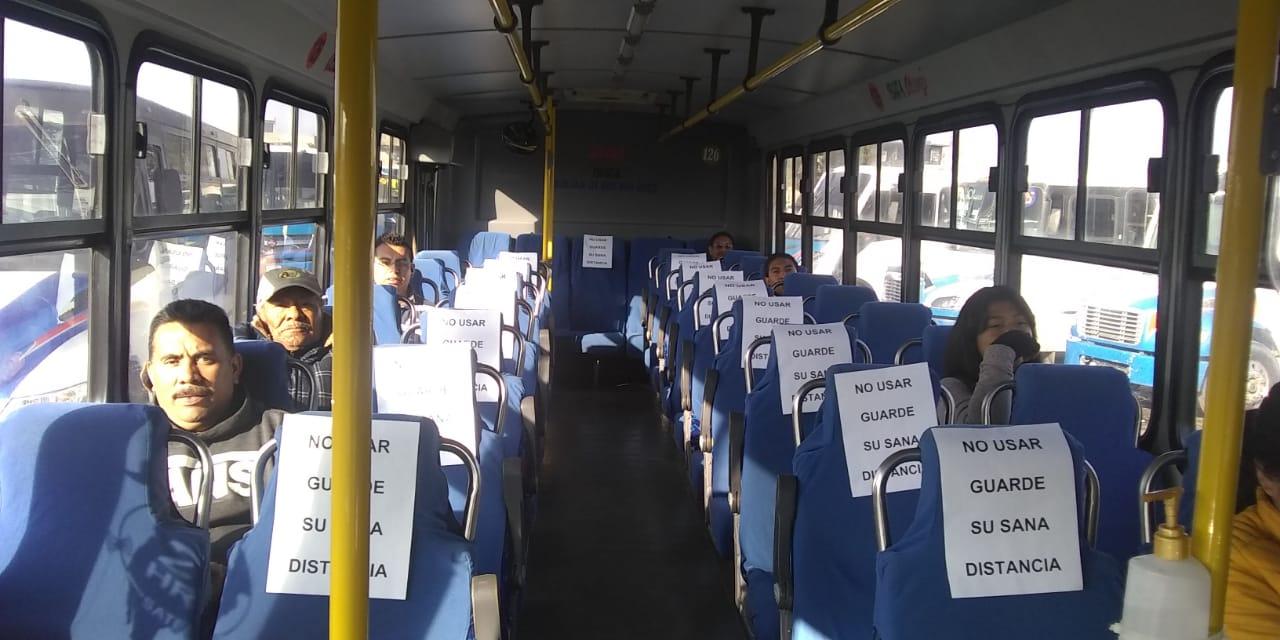 Cubrebocas obligatorio a bordo del transporte público