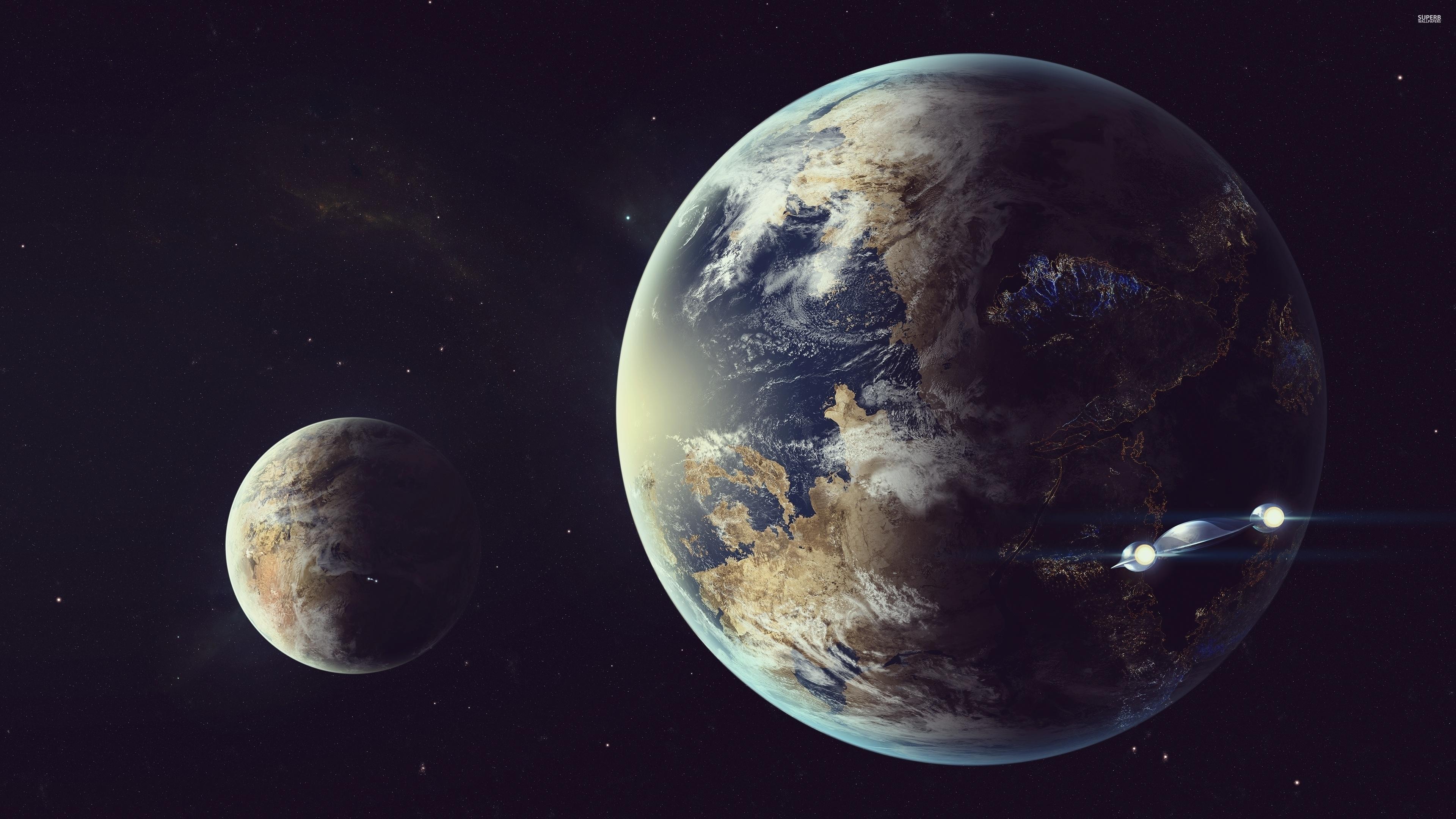 Así es como se ve la luna y la tierra a 14 millones de kilómetros