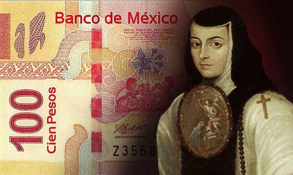Sor Juan Inés de la Cruz ahora estará en los nuevos billetes de 100 pesos