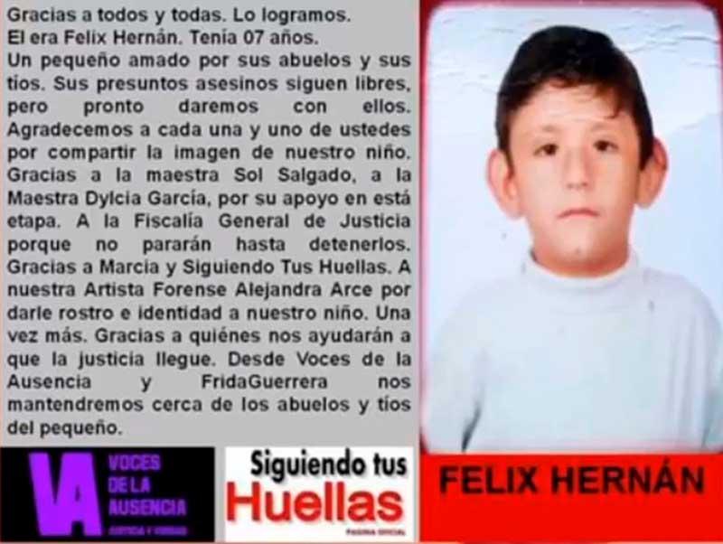 Infante hallado sin vida en Calimaya, es identificado