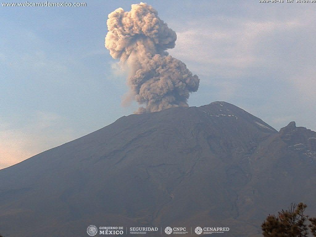 México || Volcán Popocatépetl emite exhalaciones