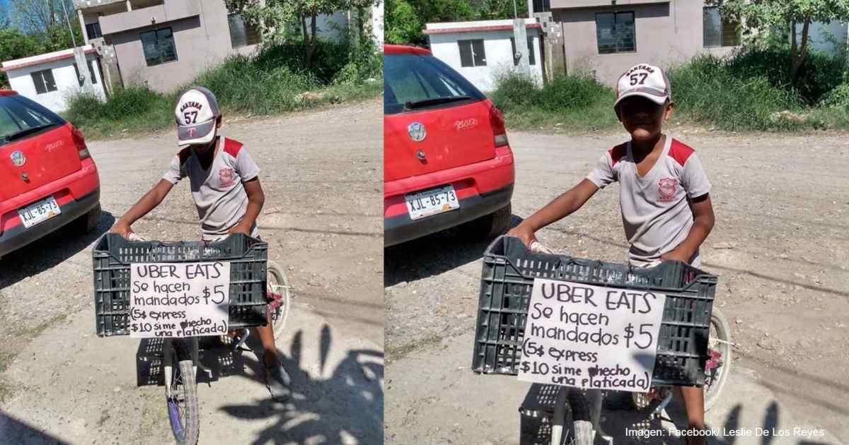 Niño se vuelve viral por hacer mandados a 5 pesos