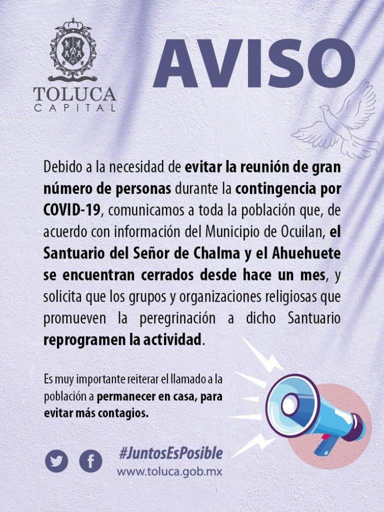 Toluca-pide-suspender-peregrinaciones-por-coronavirus