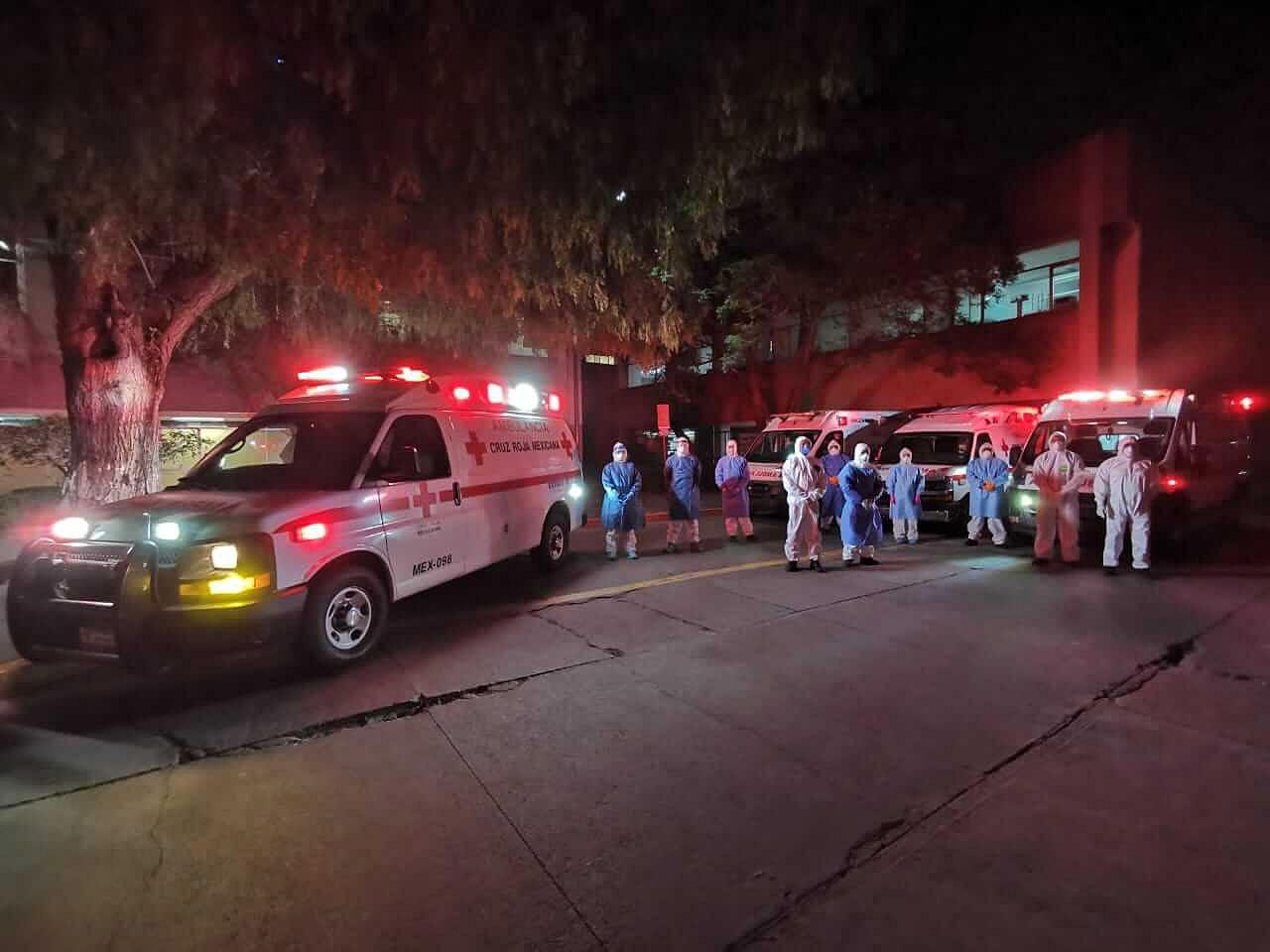 Cruz Roja reubica pacientes de COVID-19