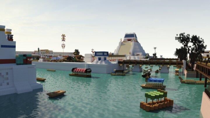 Reconstruyen Tenochtitlan en Minecraft