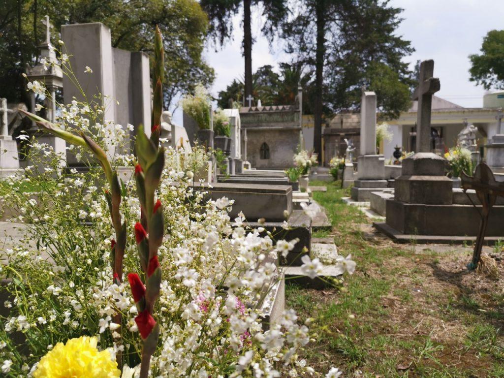 Así es como limpiaron y adornaron en Toluca las tumbas de los padres en su día