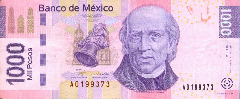 Miguel Hidalgo dice adiós al billete de 1000