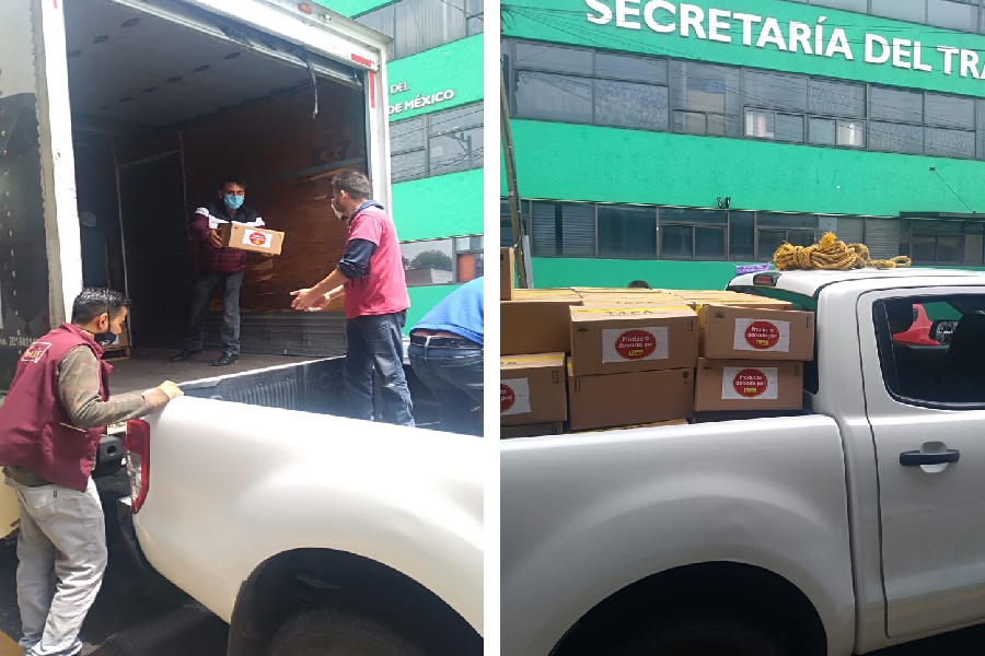 Garis regala despensas para ser distribuidas por la Secretaria del Trabajo2