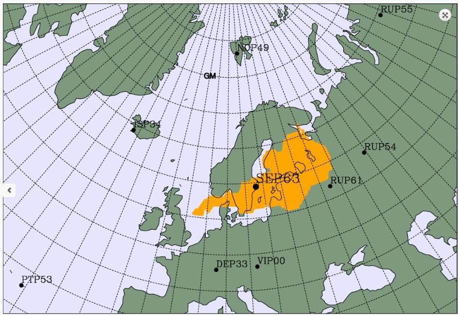 Nube radioactiva vista en Europa