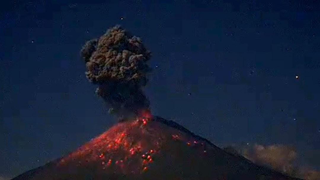 (VIDEO) Se registra explosión en el Popocatépetl