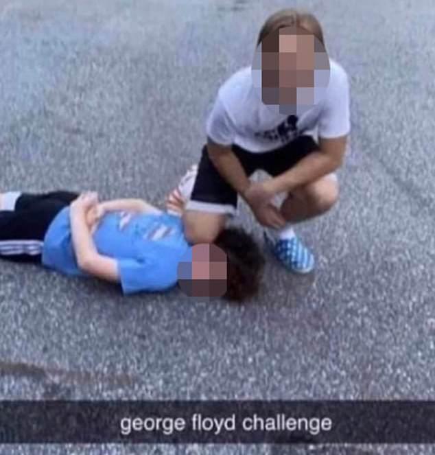 VIDEO || Nuevo reto viral entre jóvenes recrea asesinato de George Floyd