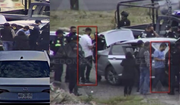 VIDEO    Persecución y captura de dos presuntos sicarios del CJNG en Atlacomulco