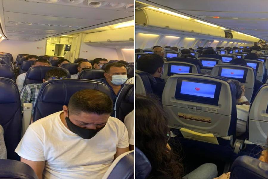 VIDEO || Vuelo de Aeroméxico no respeta la sana distancia