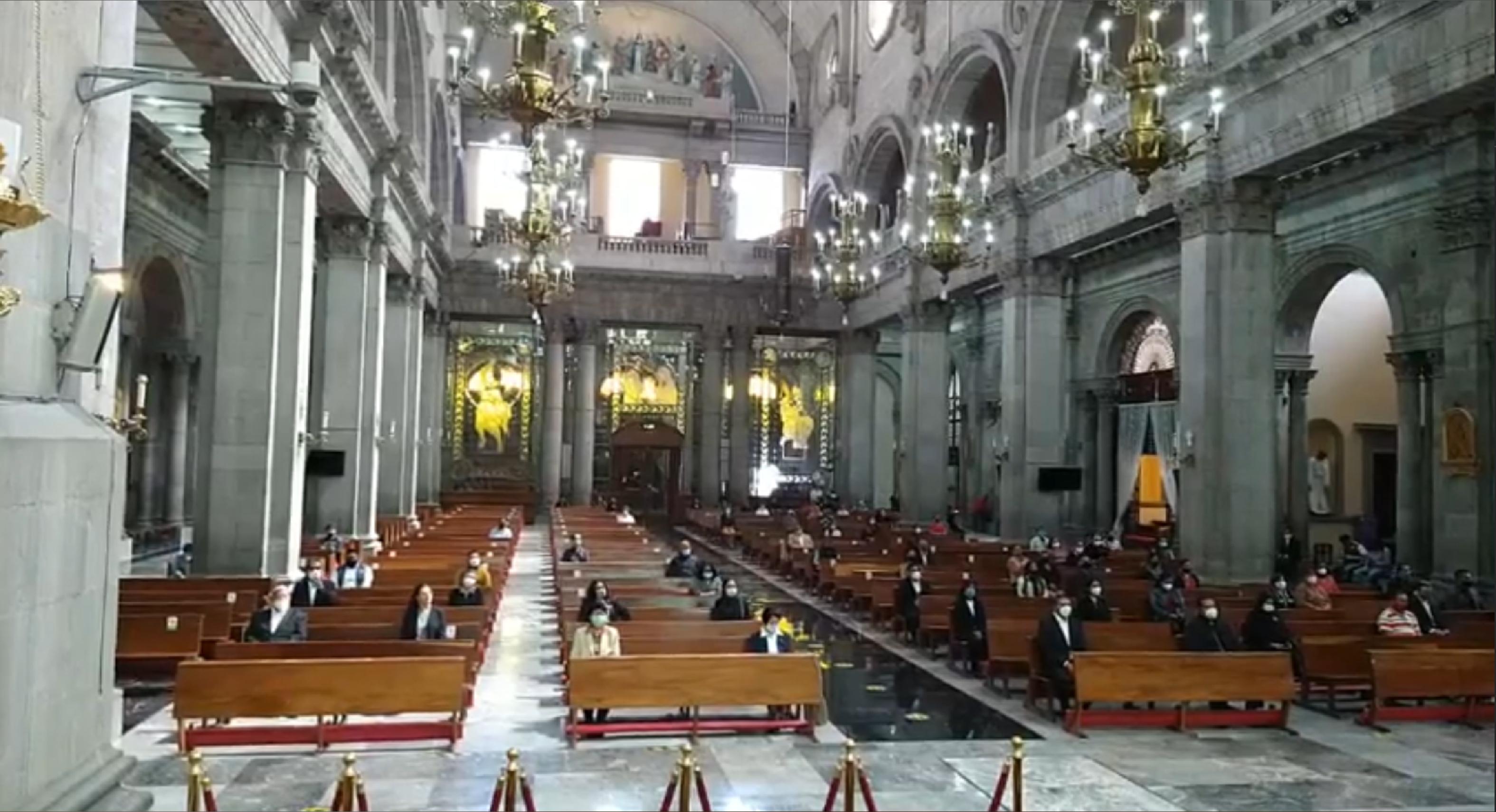 Iglesias de Toluca podrán tener aforo del 70 por ciento