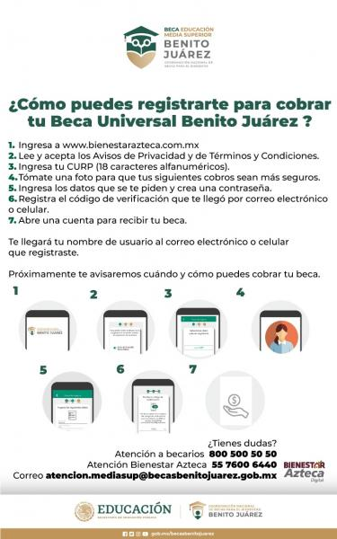 Paso a paso Bienestarazteca.com.mx registro de BECAS