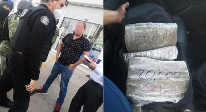 Durante la tarde del viernes 17 de julio fueron detenidos en Toluca dos hombres de al rededor de 51 años de edad con 220 mil dólares.