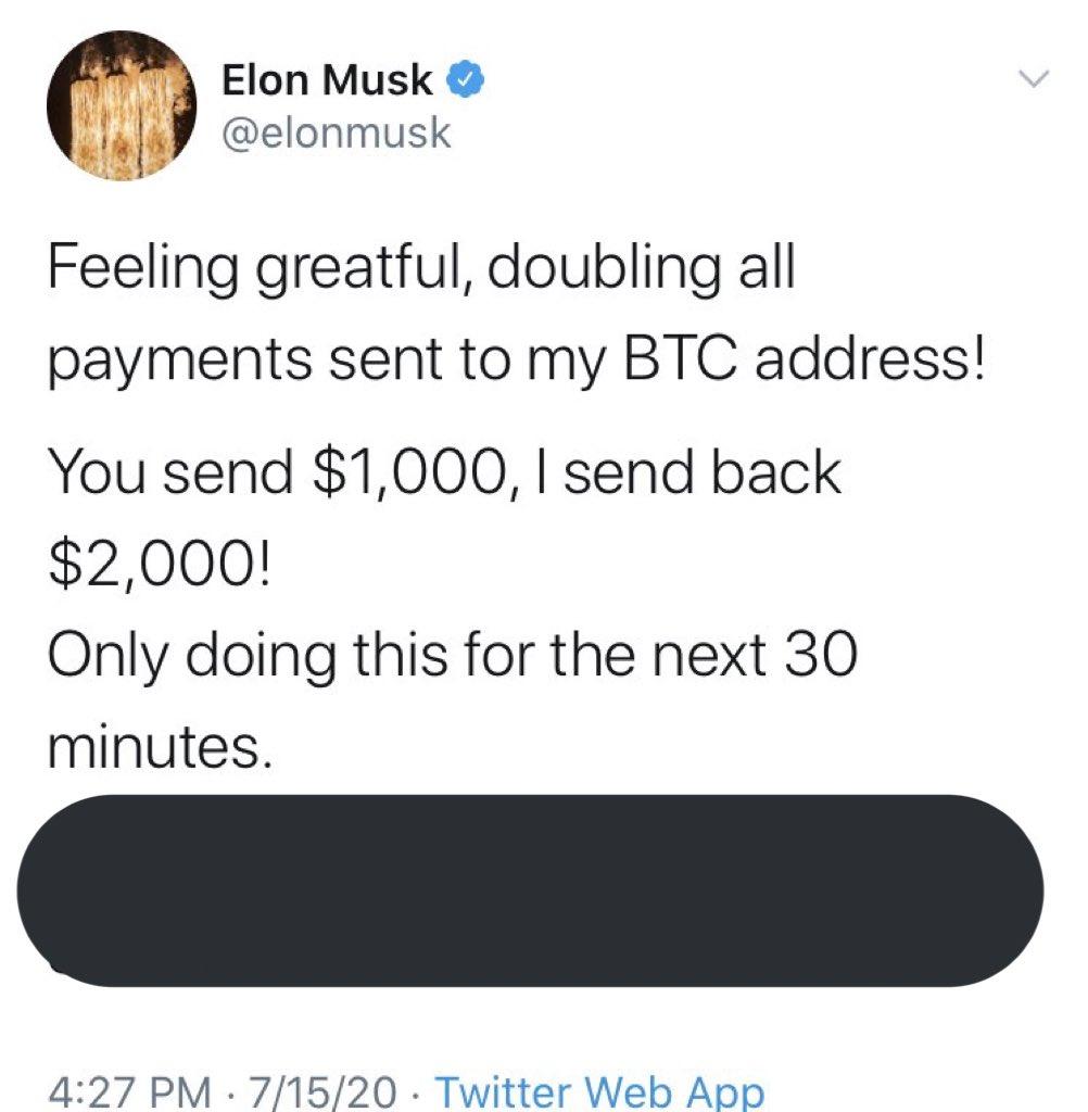 Hackearon cuentas de Twitter de multimillonarios para estafar a la gente2