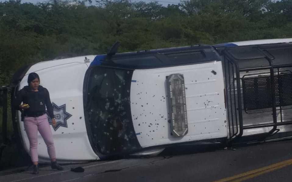 VIDEO Acribillan a 5 policías en Guanajuato