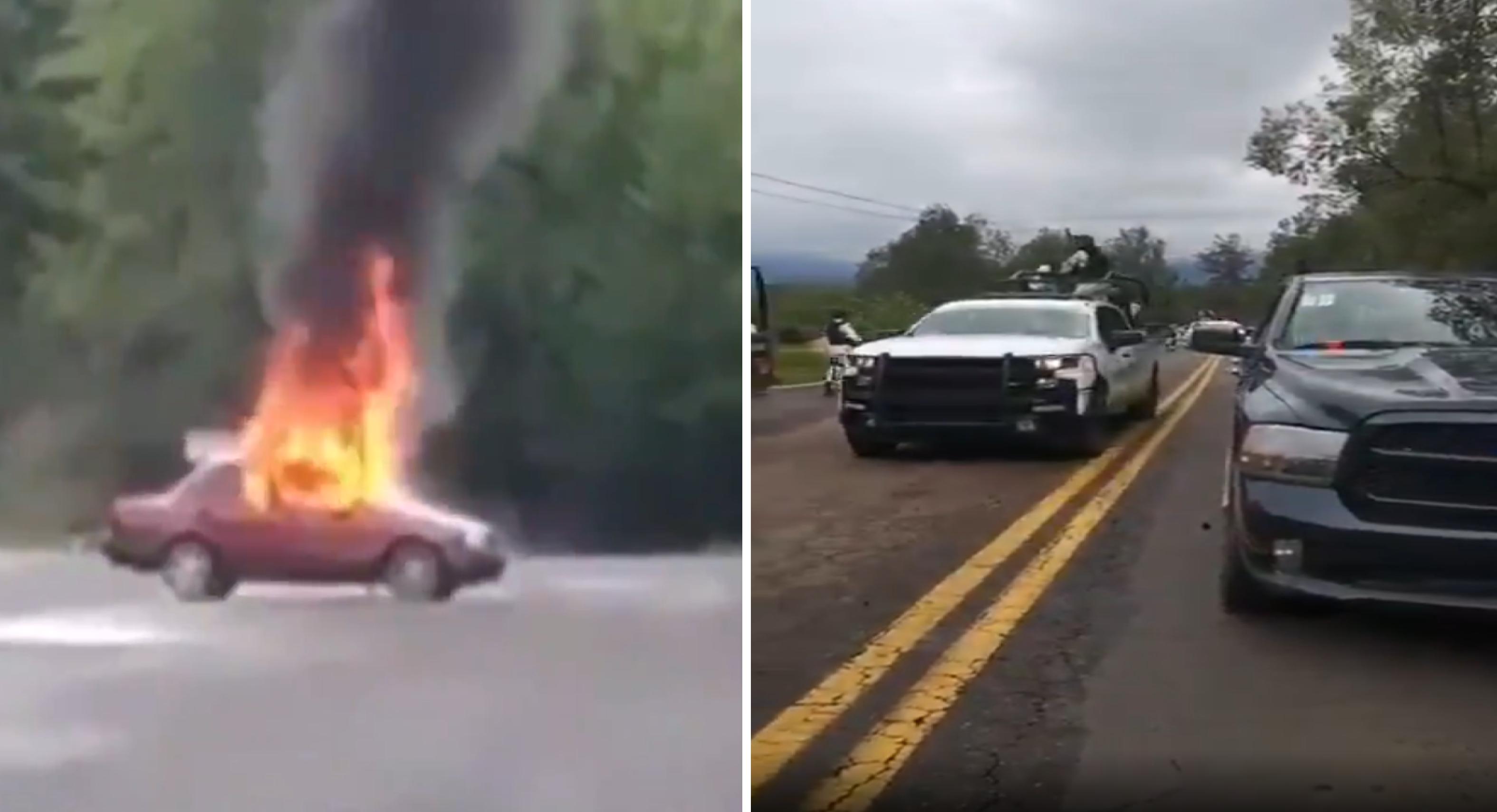 VIDEO    Policías fueron emboscados en carretera Toluca-Altamirano